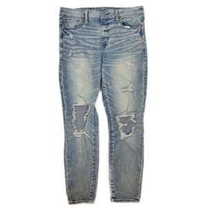 AEO Hi-Rise Jegging Jean Destroyed 14 Short